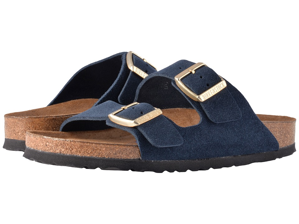 Birkenstock Arizona Soft Footbed (Navy Suede) Women