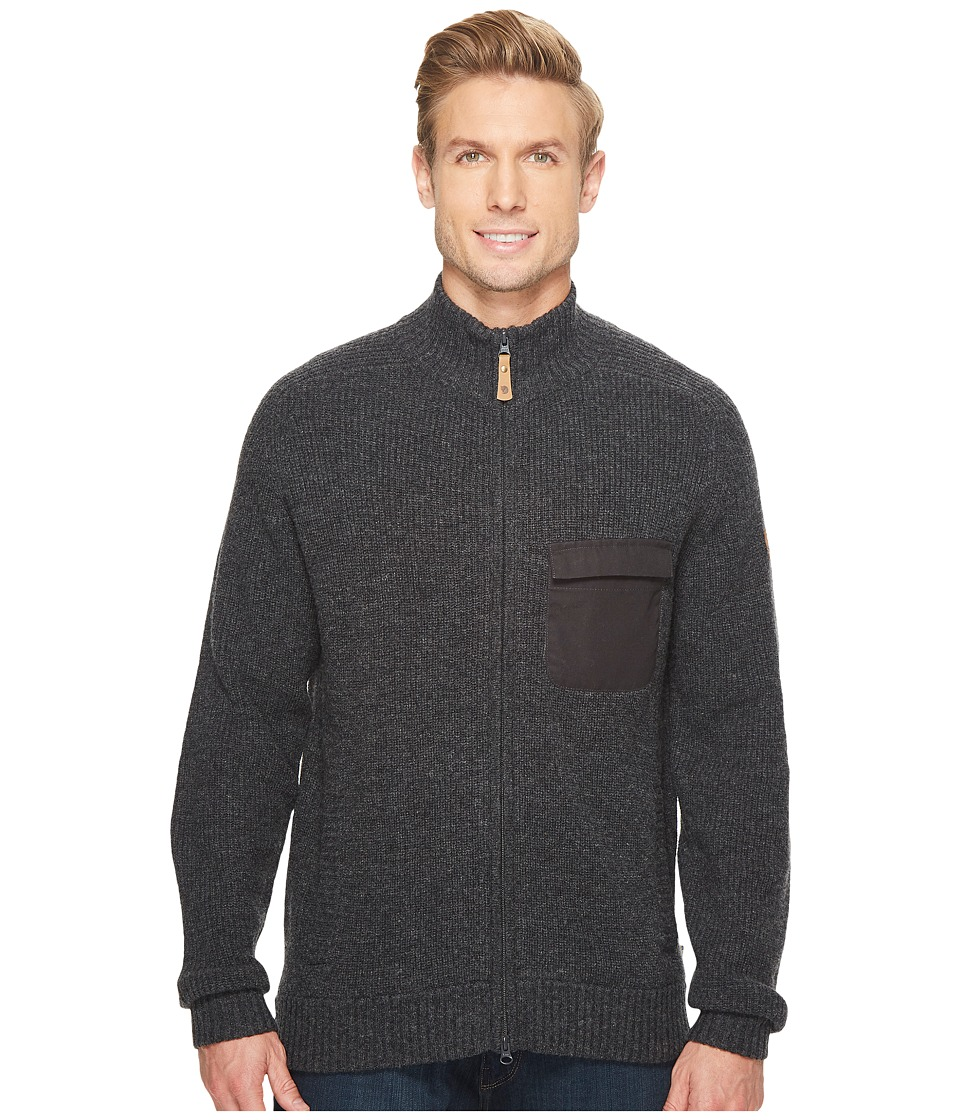 Fjallraven - Sormland Zip Cardigan Jacket (Dark Grey) Mens Coat