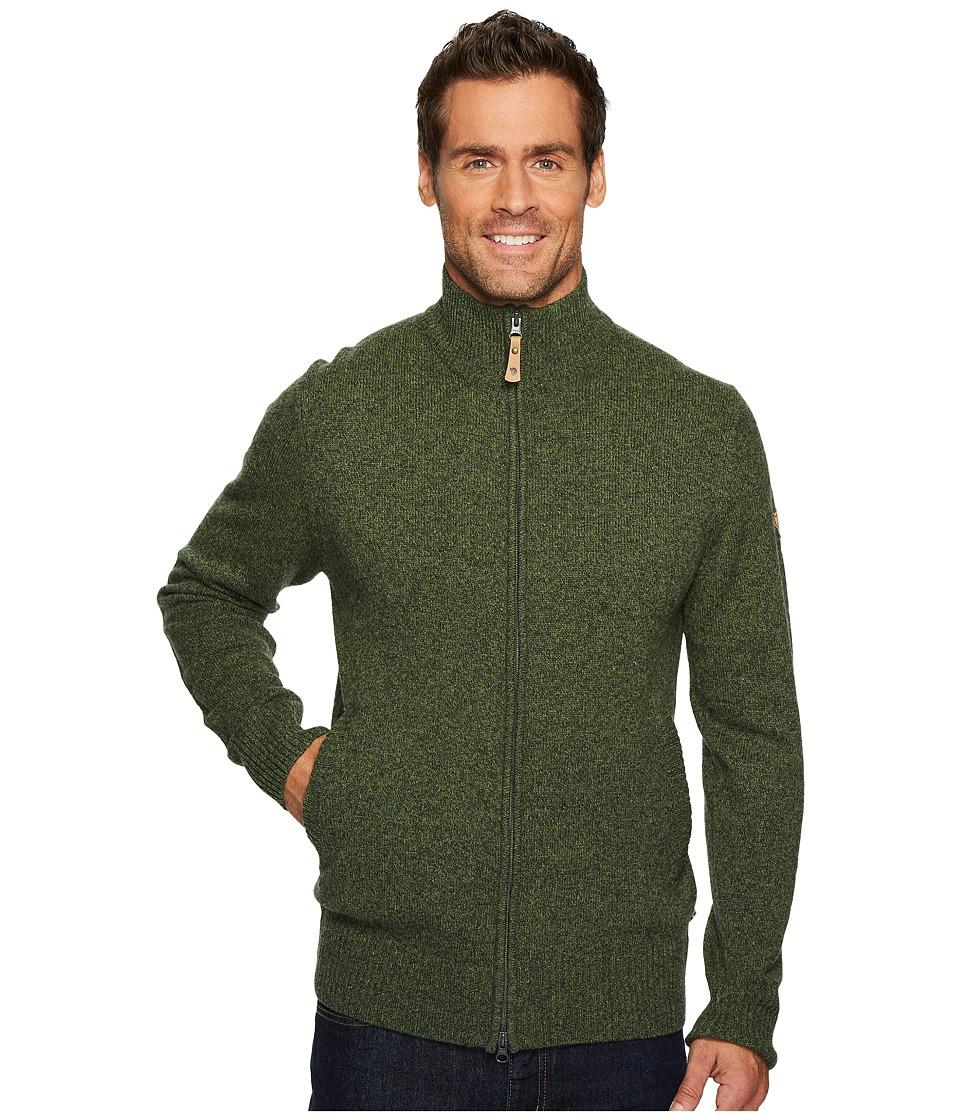 Fjallraven - Ovik Cardigan (Olive) Mens Sweater