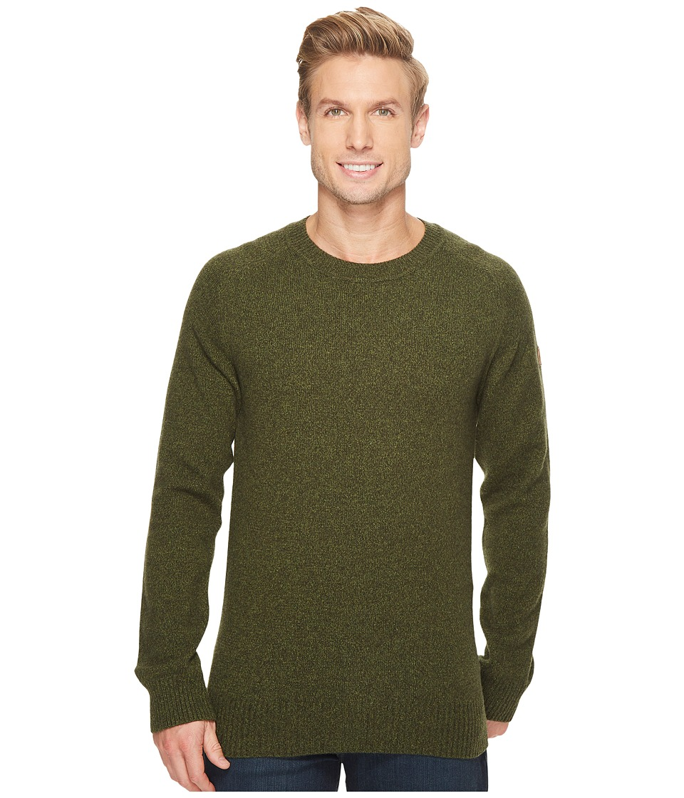 Fjallraven Ovik Re-Wool Sweater (Dark Olive) Men