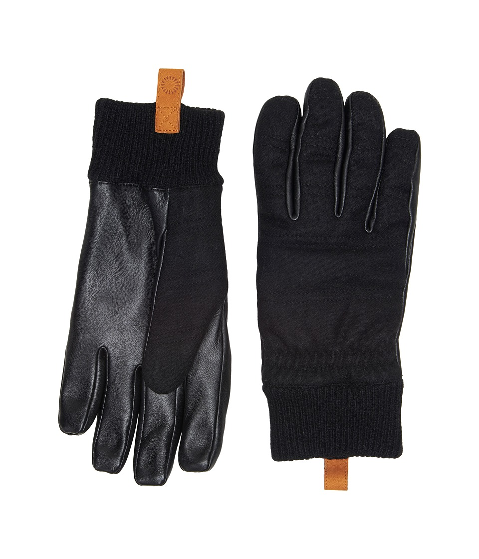 UGG Wool Leather Smart Gloves (Black) Extreme Cold Weather Gloves