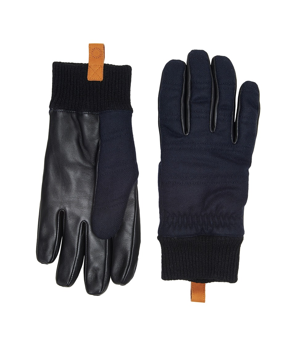 UGG Wool Leather Smart Gloves (New Navy) Extreme Cold Weather Gloves