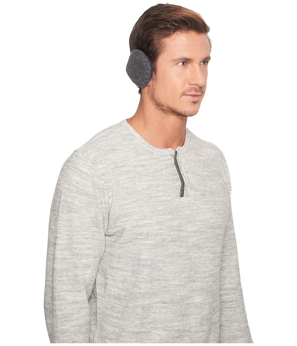 Ugg Fabric Wrap Around Earmuffs (Charcoal) Caps