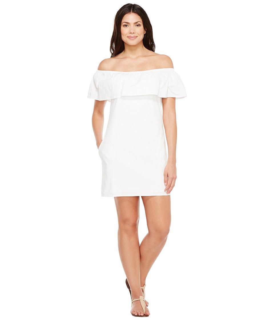 Splendid Off Shoulder Dress (White) Women