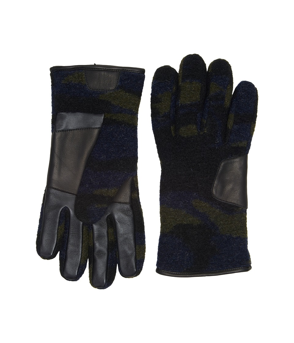 UGG Fabric Smart Gloves w/ Leather Trim (Camo) Extreme Cold Weather Gloves