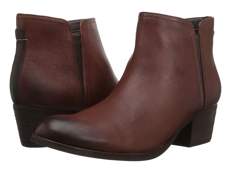 Clarks Maypearl Ramie (Mahogany Leather Combo) Women