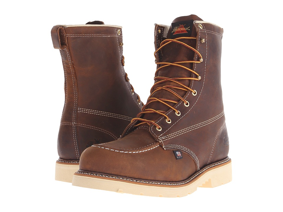 Thorogood American Heritage 8 Steel Toe (Brown Crazy Hors...
