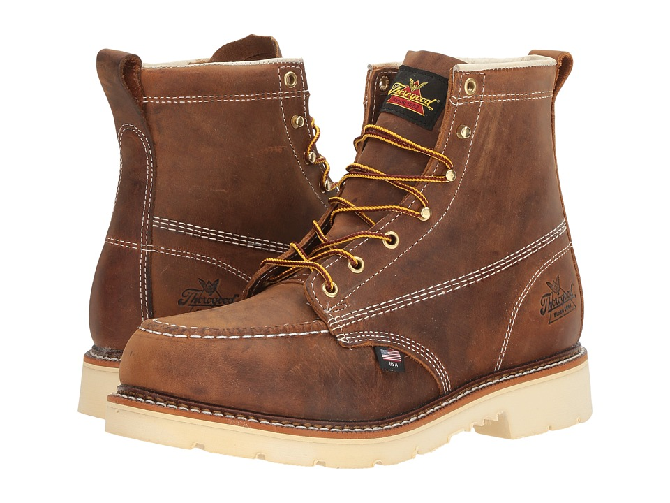 Thorogood American Heritage 6 Steel Toe (Brown Crazy Hors...