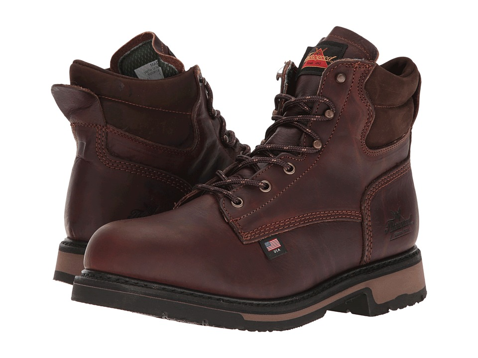 Thorogood American Heritage 6 Steel Toe (Walnut) Men's Wo...