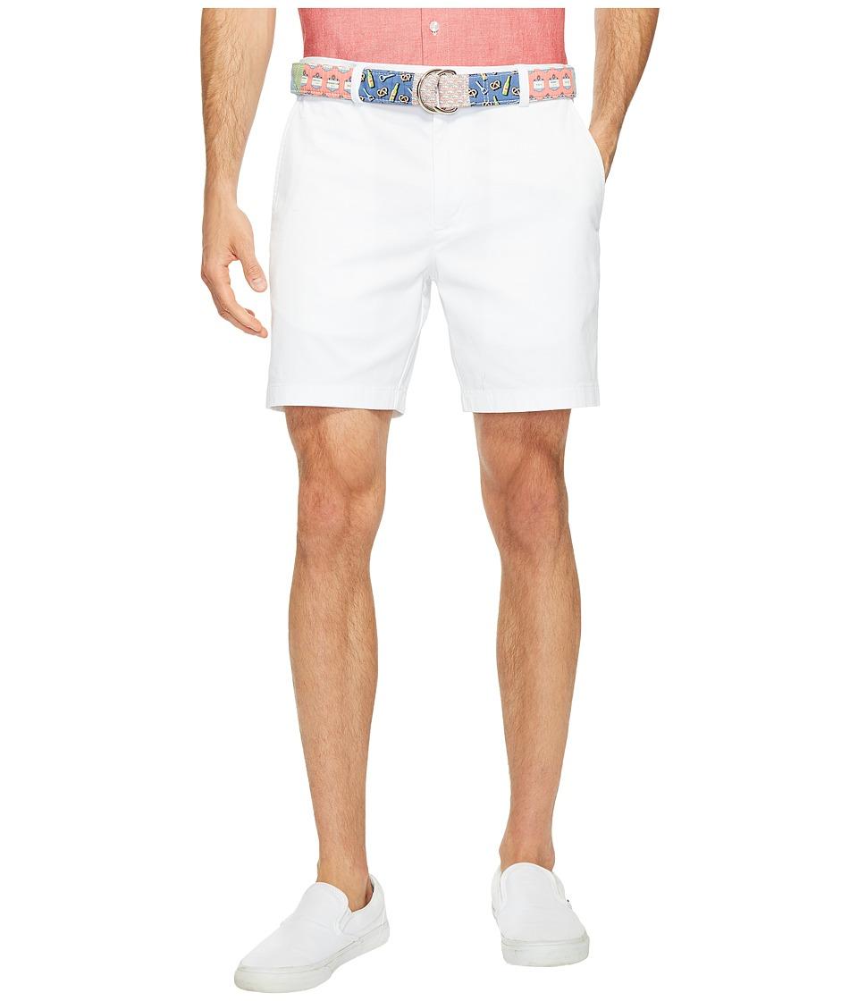 Vineyard Vines 7 Stretch Breaker Shorts (White Cap) Men