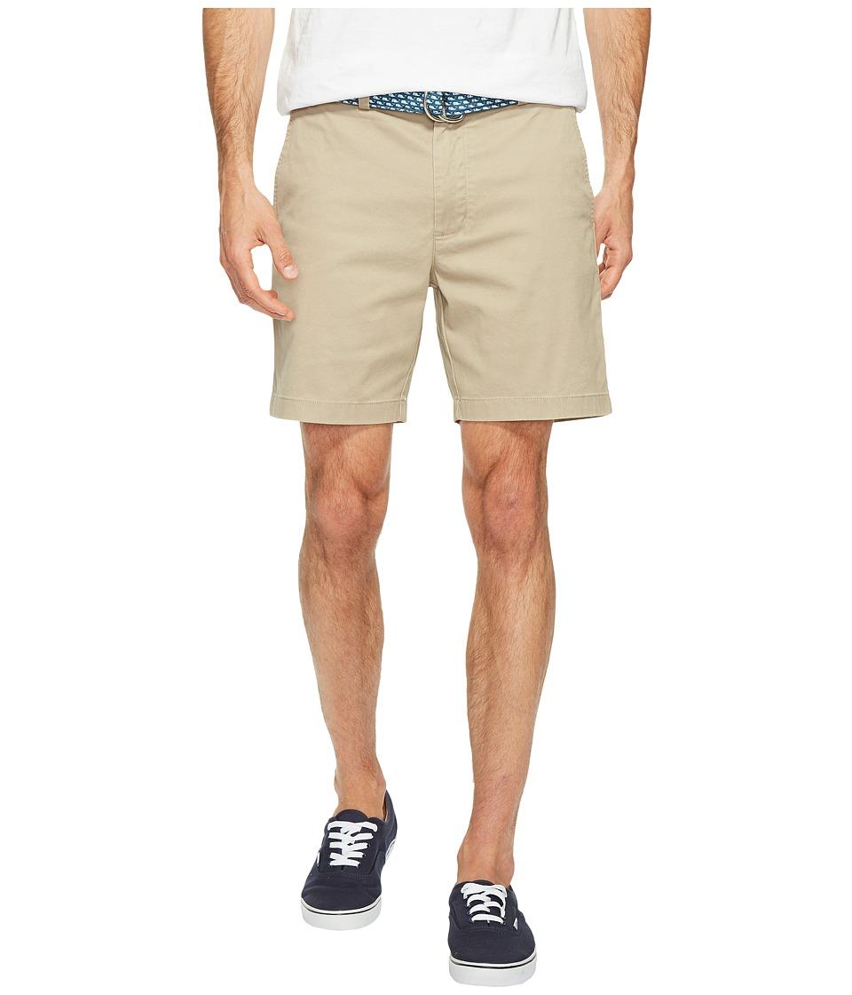 Vineyard Vines 7 Stretch Breaker Shorts (Khaki) Men