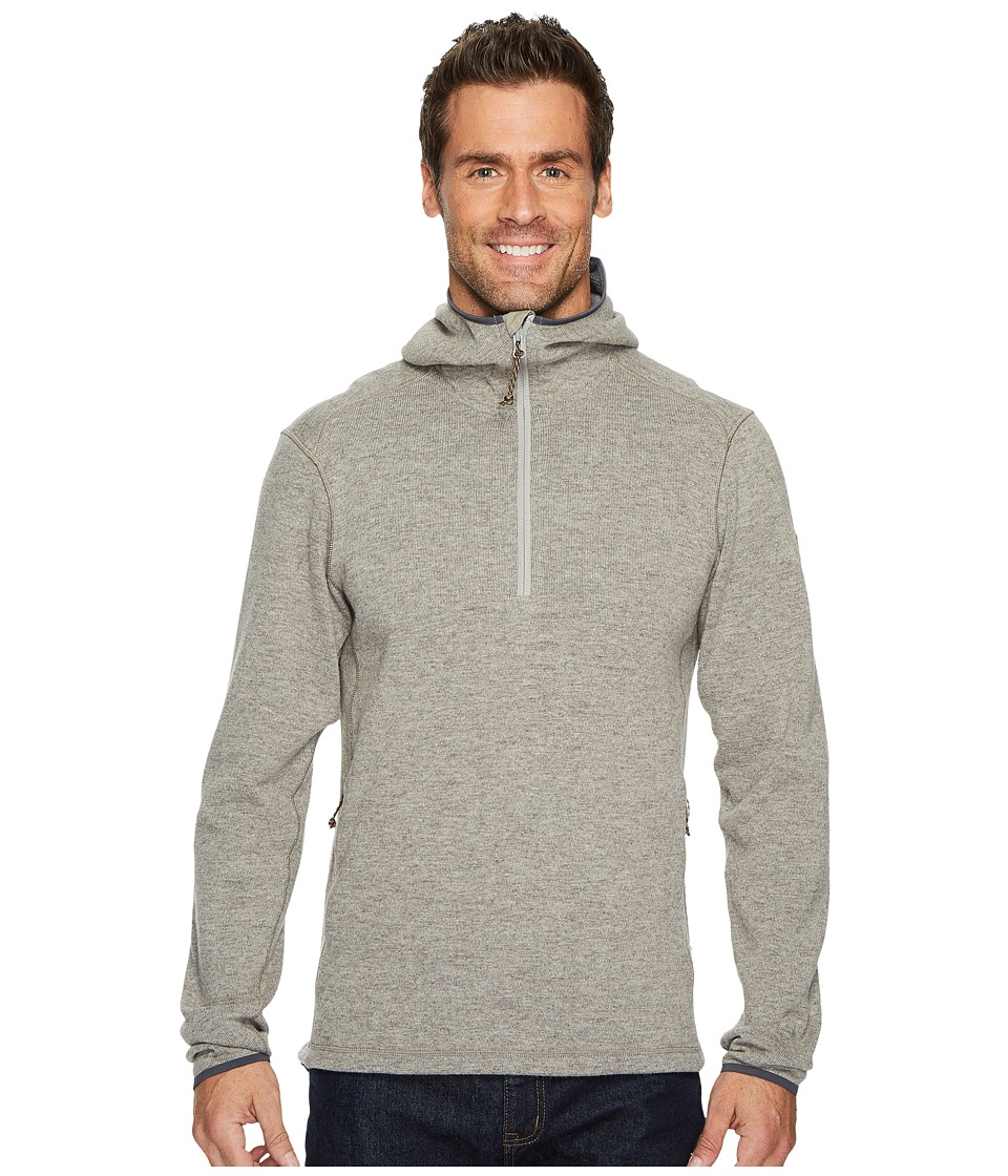 Fjallraven - High Coast Wool Hoodie (Fog) Mens Sweatshirt