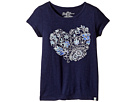 Lucky Brand Kids - Short Sleeve Heart Tee In Jersey (Little Kids)