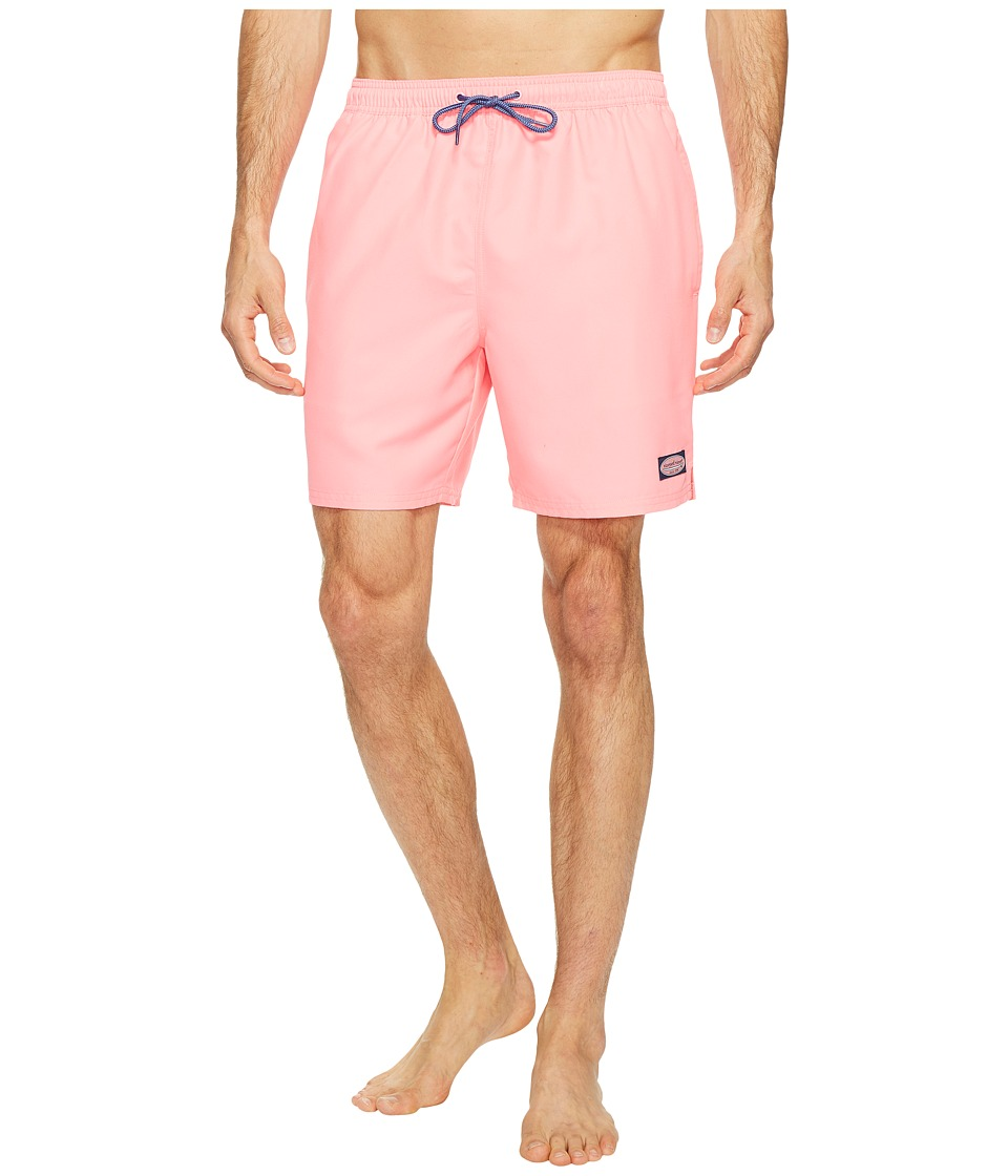Vineyard Vines Solid Bungalow Shorts (Washed Neon Pink) Men