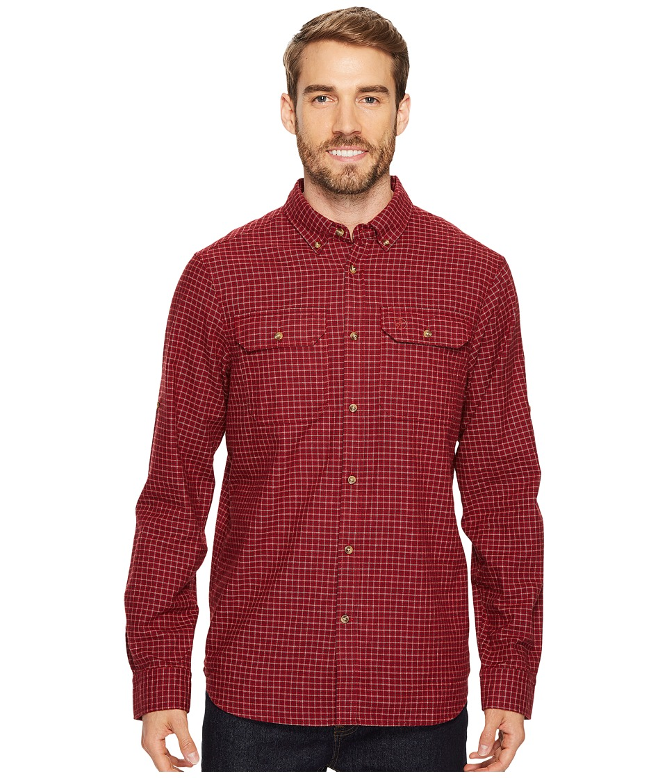 Fjallraven - Forest Flannel Shirt (Deep Red) Mens Clothing
