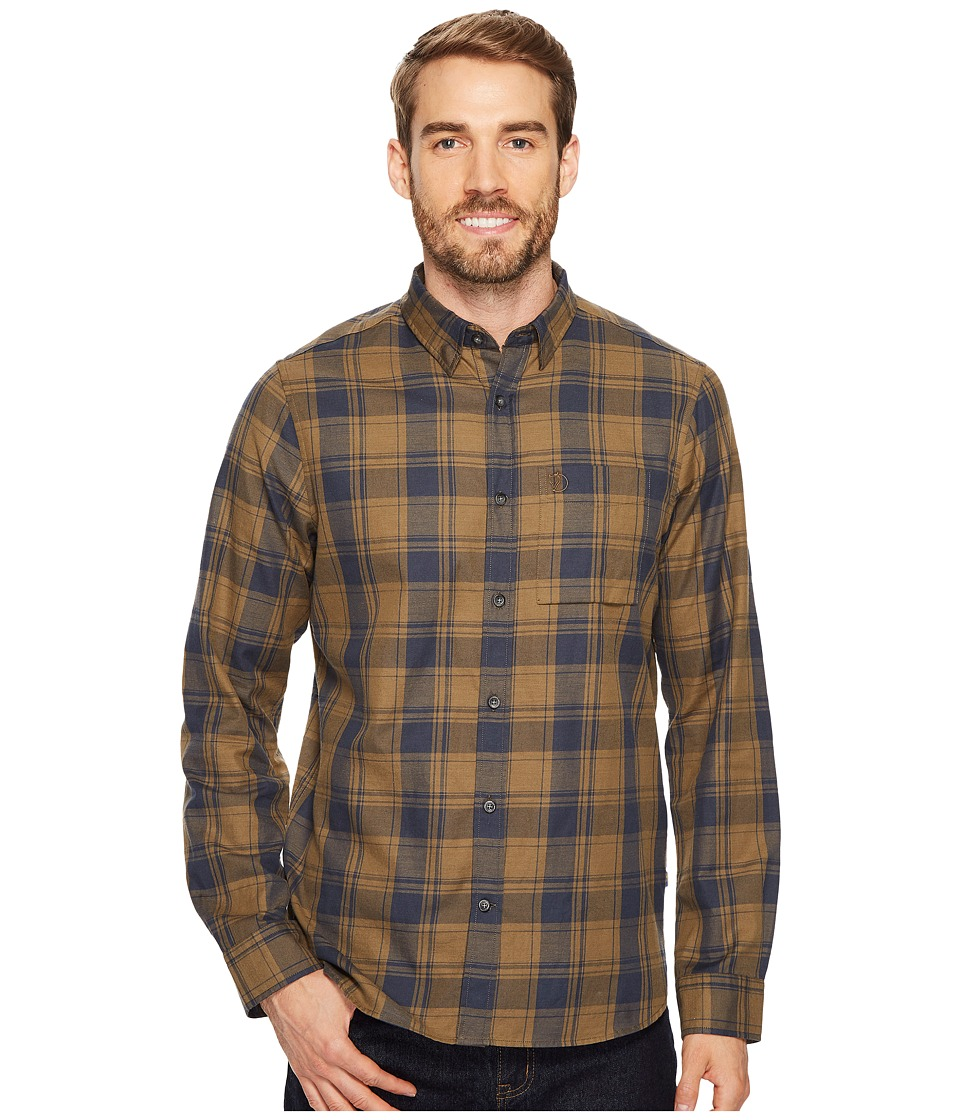 Fjallraven - Ovik Flannel Shirt (Khaki) Mens Long Sleeve Button Up