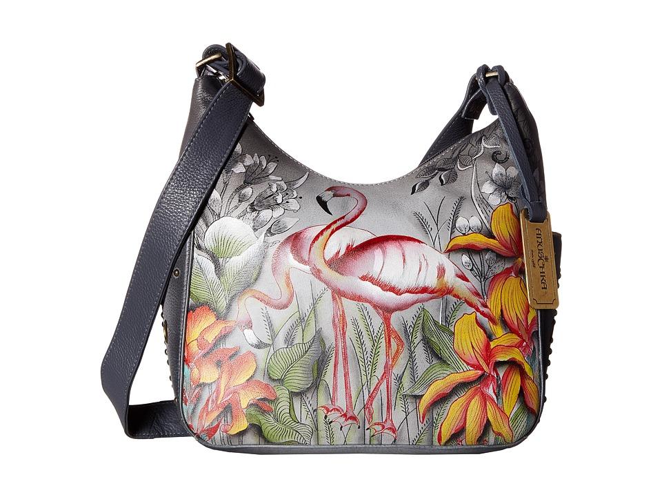 Anuschka Handbags - 433 Classic Hobo With Studded Side Pockets