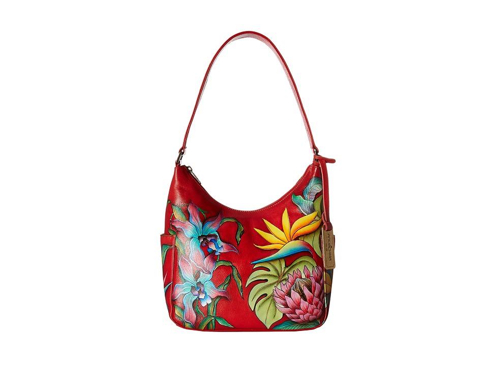 Anuschka Handbags - 382 Classic Hobo With Side Pockets (I...