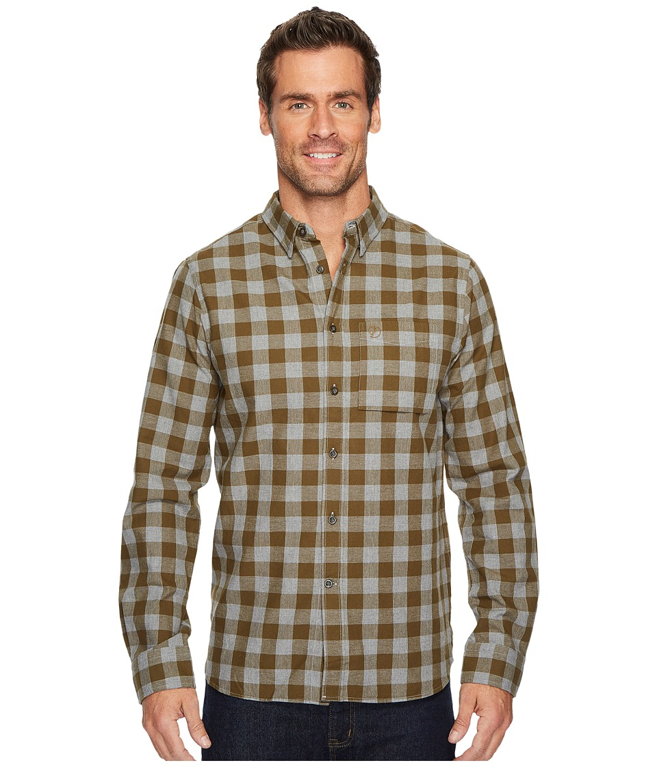 Fjallraven - Ovik Check Shirt (Khaki) Mens Long Sleeve Button Up