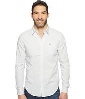 Lacoste - Long Sleeve Jacquard Dot Poplin Slim Fit