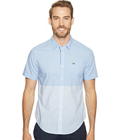 Lacoste - Short Sleeve Engineered Stripe Poplin Slim Fit