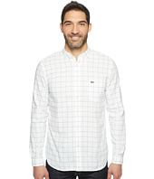 Lacoste - Long Sleeve Bold Windowpane Check Oxford Regular Fit