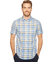 Lacoste - Short Sleeve Bold Plaid Poplin Madras Regular Fit