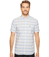 Lacoste - Short Sleeve Bold Oxford Medium Plaid