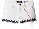 Lucky Brand Kids - Riley Stretch Denim Shorts with Embroidery (Little Kids)