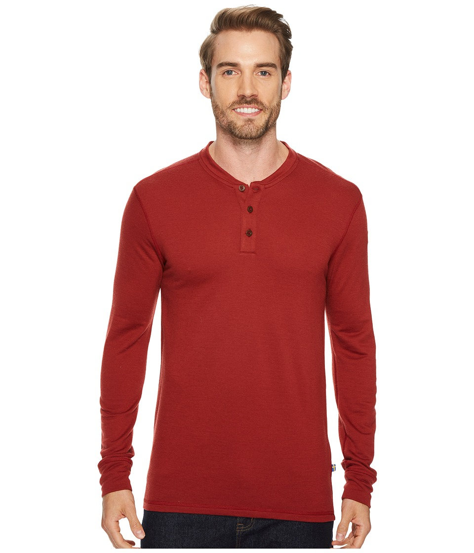 Fjallraven Lappland Merino Henley Long Sleeve (Red Oak) Men