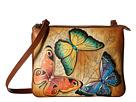 Anuschka Handbags 570 Triple Compartment Crossbody