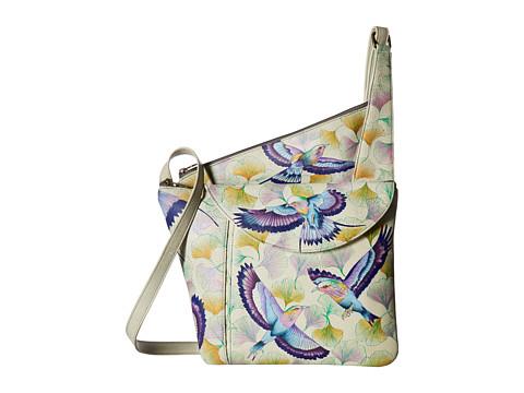 Anuschka Handbags 552 Asymmetric Slim Crossbody - Wings of Hope
