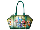 Image of Anuschka Handbags - 587 Large Wide Satchel (Passionate Peacocks) Handbags