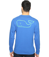 Vineyard Vines - Long Sleeve Two-Tone Vintage Whale Pocket T-Shirt