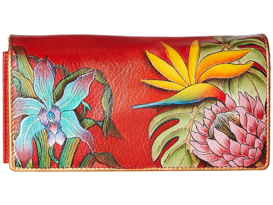 Anuschka Handbags - 1095 Accordion Flap Wallet (Island Escape) Checkbook Wallet