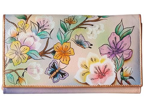Anuschka Handbags 1043 Multi-Pocket Wallet/Clutch - Japanese Garden