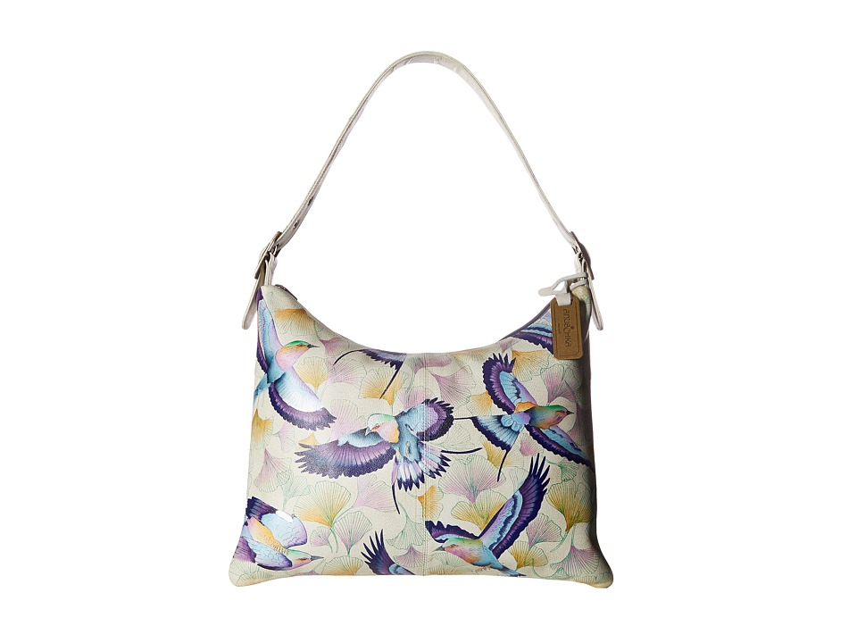 Anuschka Handbags - 605 Slim Large Hobo (Wings of Hope) H...