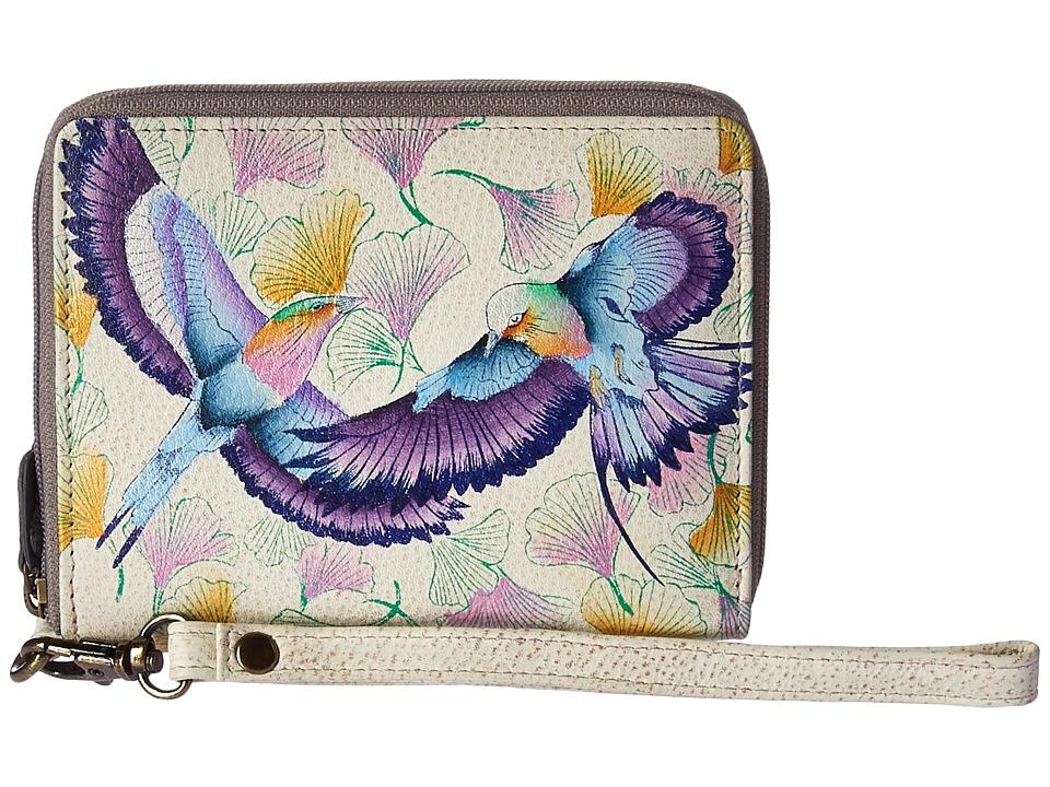 Anuschka Handbags - 1143 RFID Blocking Zip-Around Clutch Wallet (Wings of Hope) Handbags