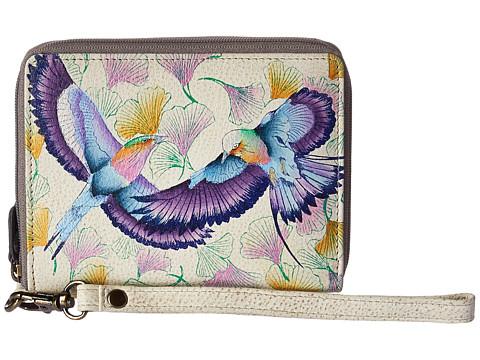 Anuschka Handbags 1143 RFID Blocking Zip-Around Clutch Wallet - Wings of Hope