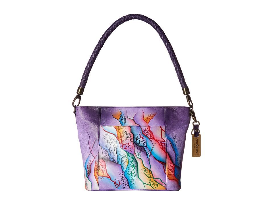 Anuschka Handbags - 608 Medium Hobo (Cosmic Quest) Handbags