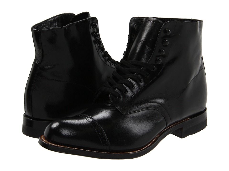 1930s Men's Clothing Stacy Adams Madison Boot Black Mens Shoes $135.00 AT vintagedancer.com