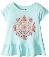 Lucky Brand Kids - Cap Sleeve Mandala Tee with Ruffle Hem (Little Kids)