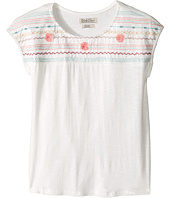 Lucky Brand Kids - Embroidered Drop Shoulder Top (Big Kids)