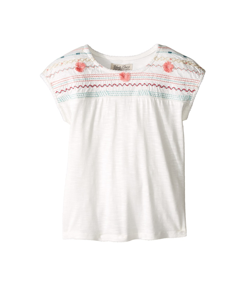 Lucky Brand Kids - Embroidered Drop Shoulder Top