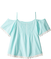 Lucky Brand Kids - Flutter Sleeve Cold Shoulder Top (Big Kids)