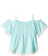 Lucky Brand Kids - Flutter Sleeve Cold Shoulder Top (Little Kids)