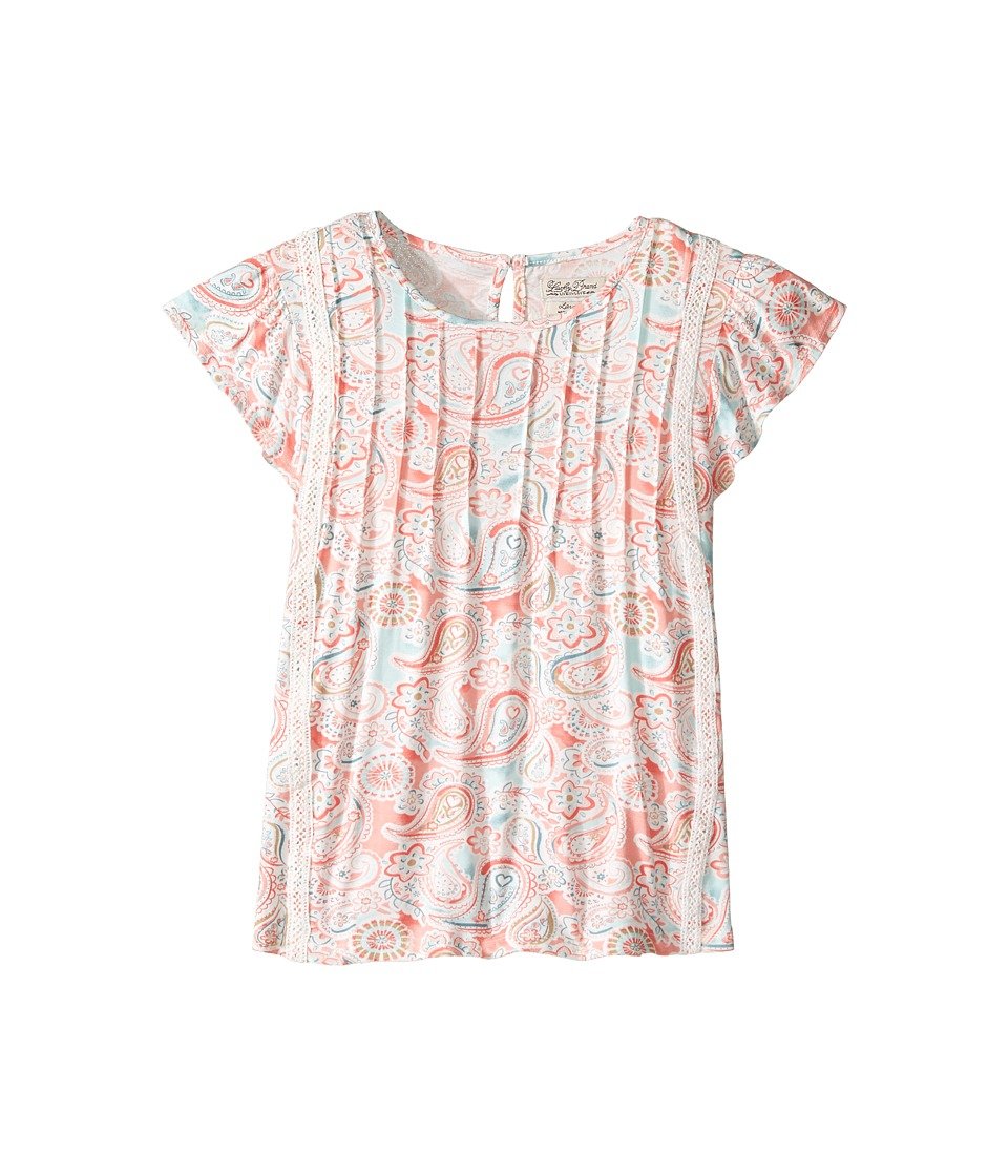 Lucky Brand Kids - Flutter Sleeve Paisley Printed Top