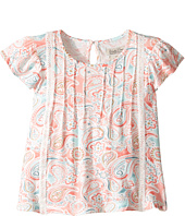 Lucky Brand Kids - Flutter Sleeve Paisley Printed Top (Little Kids)