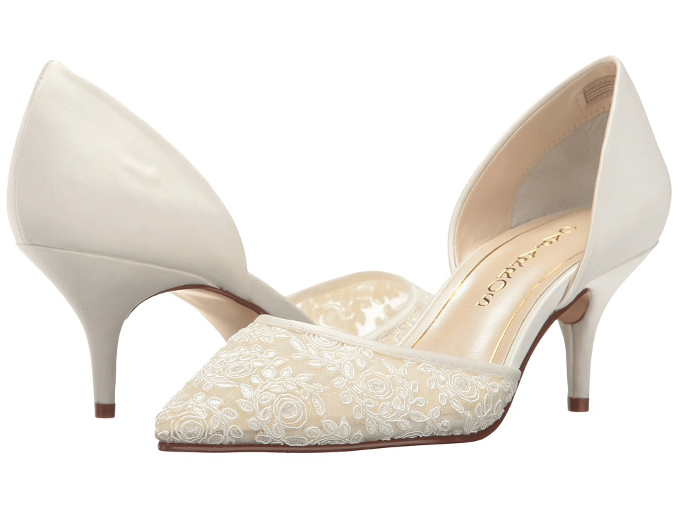 Vintage Style Wedding Shoes, Boots, Flats, Heels Caparros - Indochine Ivory Lace High Heels $79.00 AT vintagedancer.com