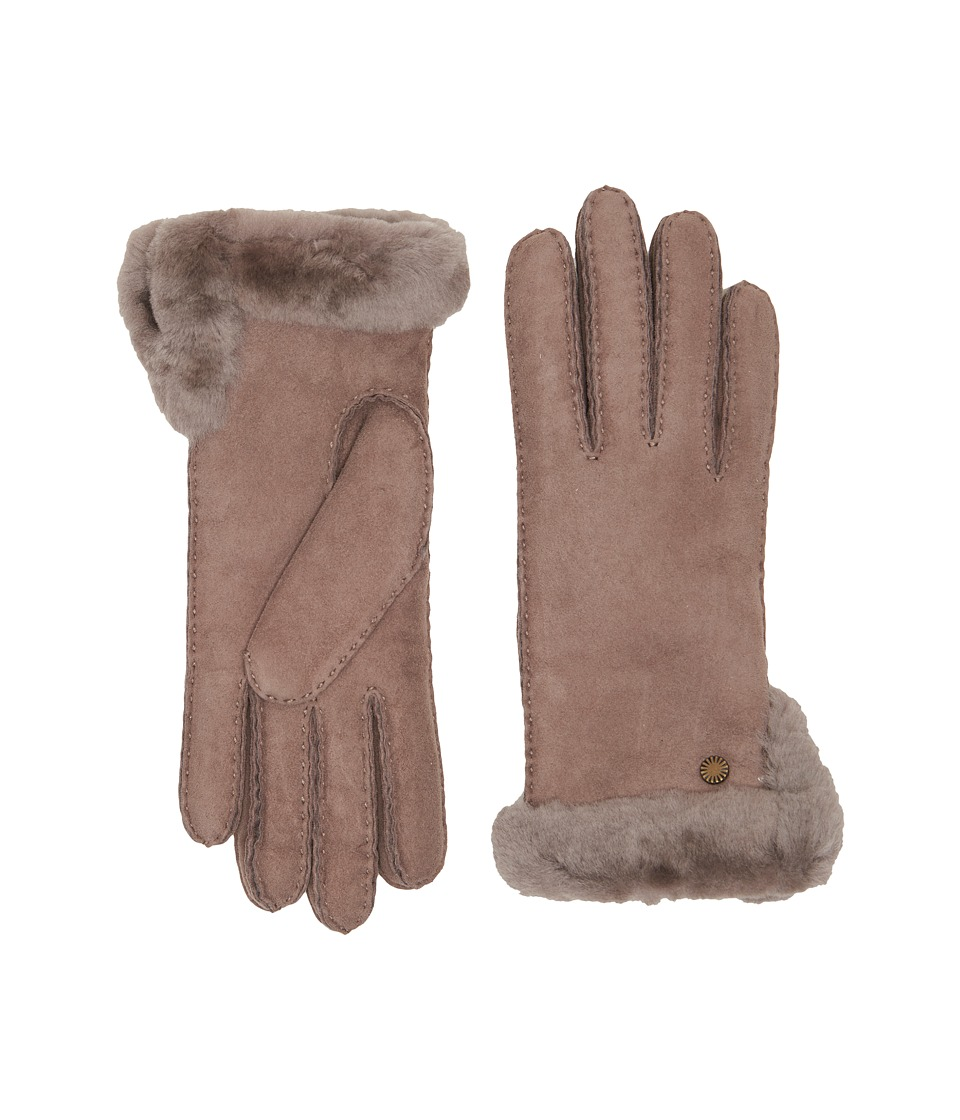 Ugg Side Vent Sheepskin Gloves with Slim Pile (Stormy Gre...